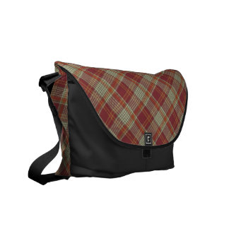 Besaces Sac messenger orange rouge à Rickshaw de plaid