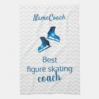 Best figure skating coach - blue star skate towel