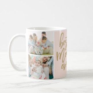Best Mom Ever Photo Collage Mug Blanc