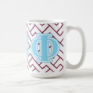 Bêtas lettres de bleu de phi de pi mug