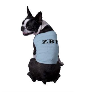 Bêtas lettres noires de Tau de Zeta T-shirt Pour Chien