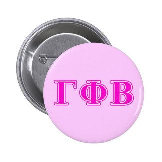 Bêtas lettres roses lumineuses de phi gamma badge