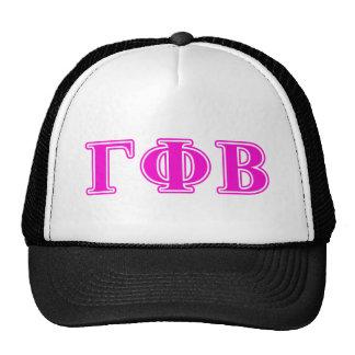 Bêtas lettres roses lumineuses de phi gamma casquette
