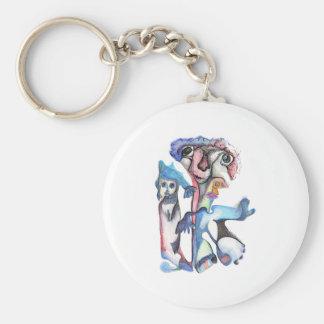 Bêtes bleues porte-clé