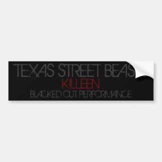 bêtes de rue du Texas Autocollant De Voiture