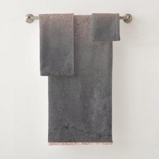 Béton gris de ciment d'or d'ombre rose de parties
