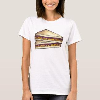 Beurre d'arachide de PB&J et T-shirt de sandwich à