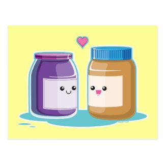 Beurre et gelée d'arachide carte postale