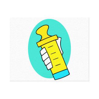 Biberon de jaune d'abrégé sur participation de mai toiles tendues sur châssis