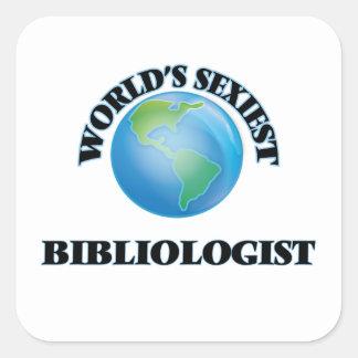 Bibliologist le plus sexy du monde sticker carré