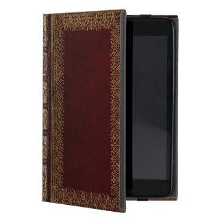 Bibliophile en cuir antique de livre étui iPad mini