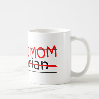 Bibliothécaire de maman du travail mug