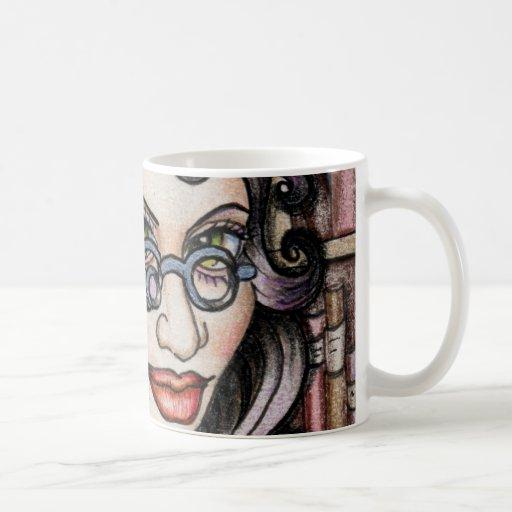 Bibliothécaire de Steampunk Steamface Mug À Café