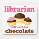 Bibliothécaire drôle Mousepad Tapis De Souris