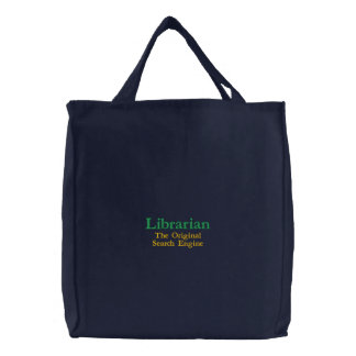 Bibliothécaire, le moteur de recherche original sacs brodés