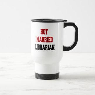 Bibliothécaire marié chaud mug de voyage