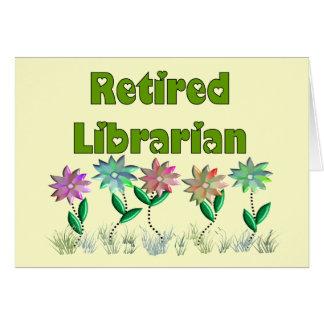 """Bibliothécaire retraité """"sensation de ressort """" cartes"""