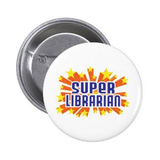 Bibliothécaire superbe badge avec épingle