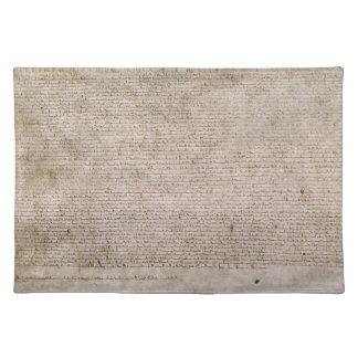 Bibliothèque 1215 britannique de la Magna Carta d' Sets De Table