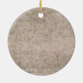 Bibliothèque 1215 britannique de la Magna Carta Ornement Rond En Céramique