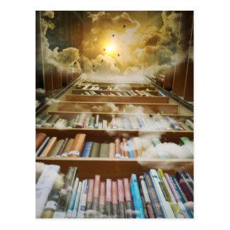 Bibliothèque dans le ciel carte postale