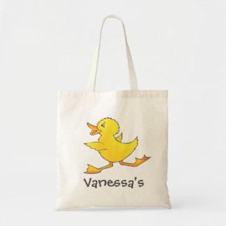 Bibliothèque de canard d'enfants ou sac jaune mign