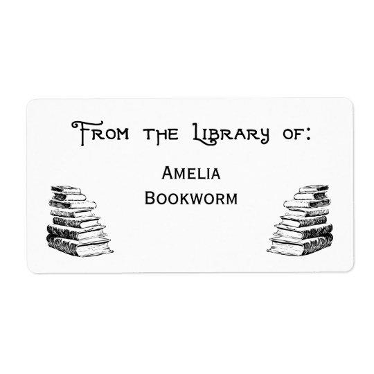 """""""Bibliothèque faite sur commande"""" des étiquettes"""