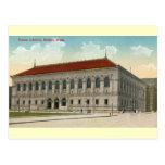 Bibliothèque publique, cru 1911 de Boston Carte Postale