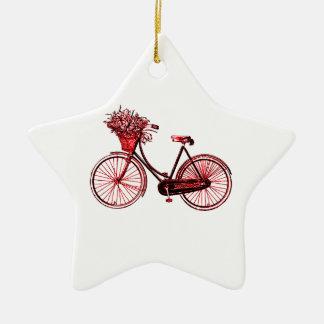Bicyclette 2 ornement étoile en céramique