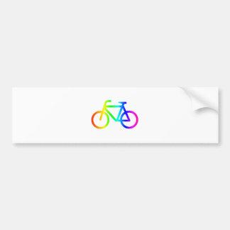 Bicyclette #3 d'arc-en-ciel autocollant pour voiture
