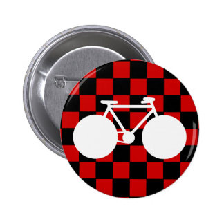 bicyclette blanche checkered badges