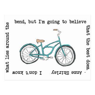 Bicyclette d'Anne Shirley- inspirée Carte Postale