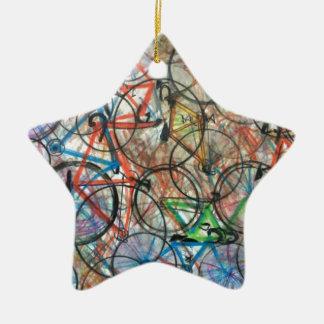 Bicyclette de bicyclette que je veux monter mon ornement étoile en céramique