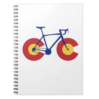 Bicyclette de drapeau du Colorado Carnet