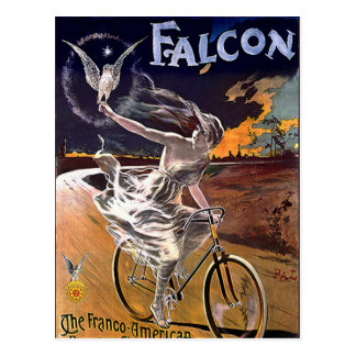 Bicyclette de faucon carte postale