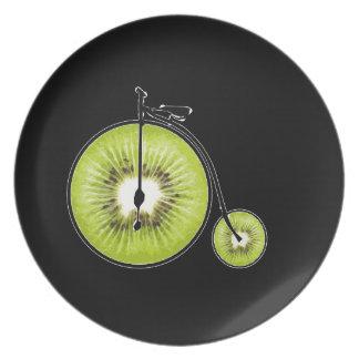 Bicyclette de kiwi assiette