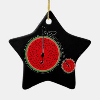 Bicyclette de pastèque ornement étoile en céramique