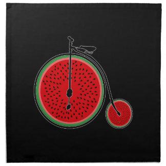 Bicyclette de pastèque serviettes de table