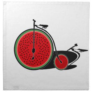 Bicyclette de pastèque serviettes en tissus