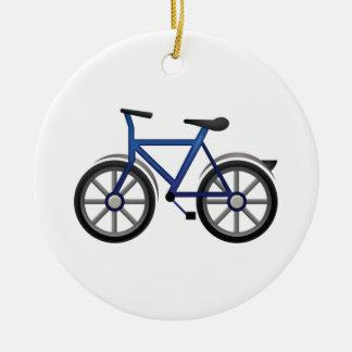 Bicyclette - Emoji Ornement Rond En Céramique