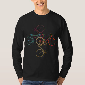 bicyclette. habillement de style de vélo t-shirt