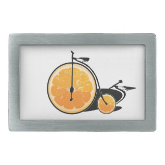 Bicyclette orange boucles de ceinture rectangulaires
