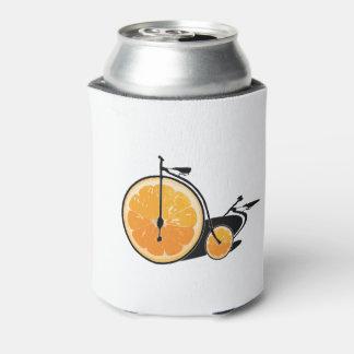 Bicyclette orange rafraichisseur de cannettes