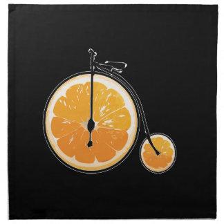 Bicyclette orange serviettes en tissus