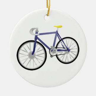 Bicyclette Ornement Rond En Céramique