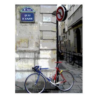 Bicyclette parisienne carte postale