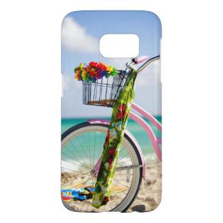 Bicyclette sur la plage | Miami, la Floride Coque Samsung Galaxy S7