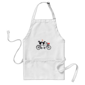bicyclette tandem avec des écureuils tablier