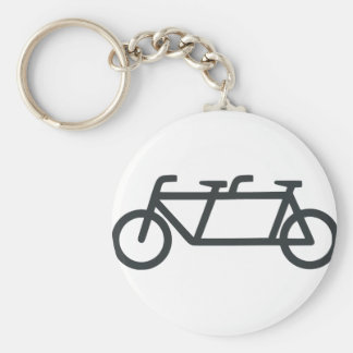 Bicyclette tandem porte-clé rond