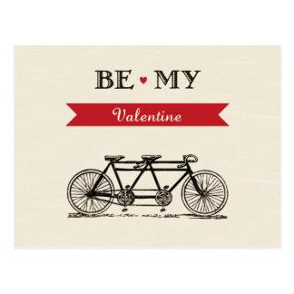 Bicyclette tandem - soyez ma carte de Valentine